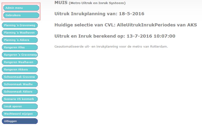Online MUIS Applicatie RET