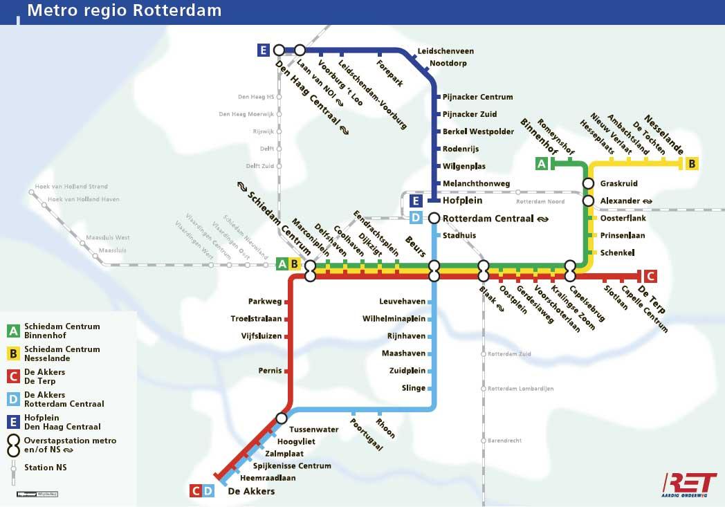 Roelofs en Schenk - MUIS, Planning Metro Rotterdam