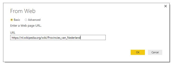 Roelofs en Schenk - Power BI, Wikipedia als bron