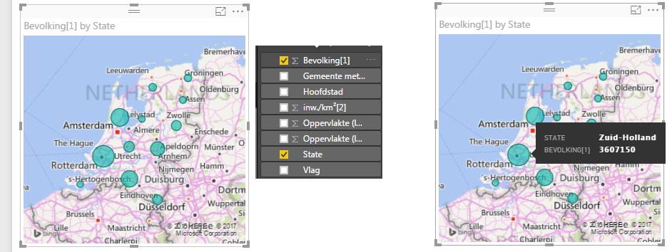 Roelofs en Schenk - Power BI, Het hernoemen van het veld 'provincie' naar 'state' zodat Power BI herkent dat het om een provincie gaat