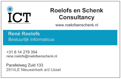 Visitekaartje Rene Roelofs