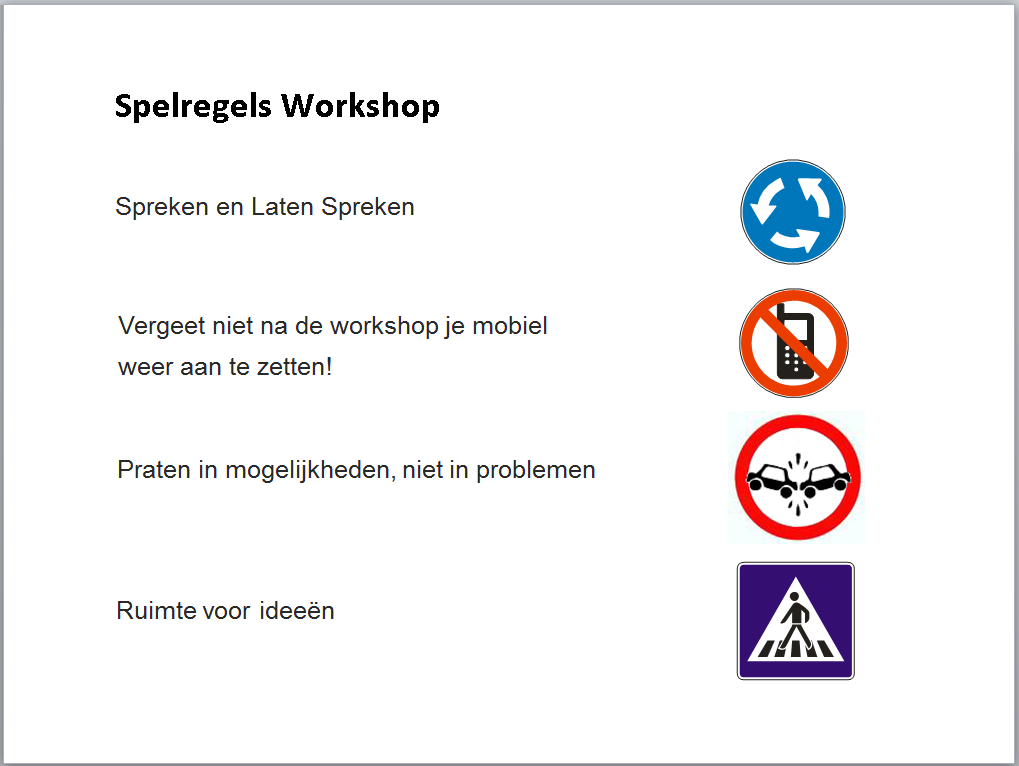 Roelofs en Schenk - Workshops